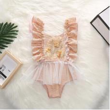 Gold bodysuit for girls