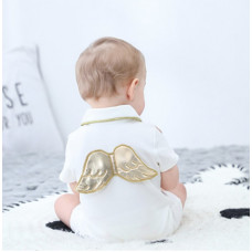 Romper with golden wings