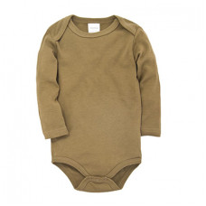 Khaki bodysuit with long sleeves