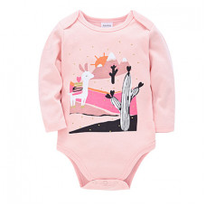 Pink bodysuit with long sleeves