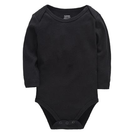 Black bodysuit with long sleeves