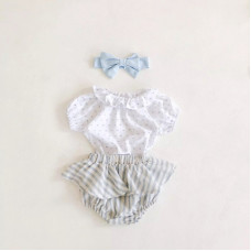 Shorts-skirt, top and headband set