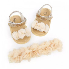 Booties-sandals with flowers