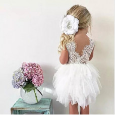 Dress with a long full skirt