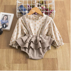 Blouse and skirt with straps set