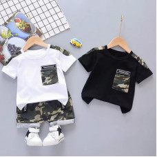 Set of T-shirt and camouflage shorts