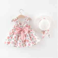 Dress with cutout back and a bow