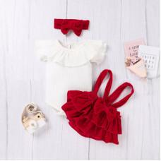 Velvet skirt and top set
