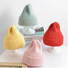 Bright knitted hat
