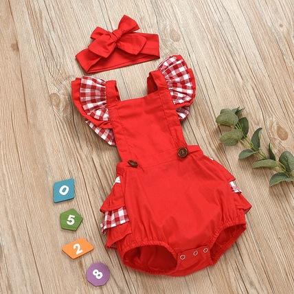 Red summer bodysuit