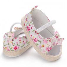 Flower print booties-sandals