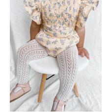 Cotton openwork tights