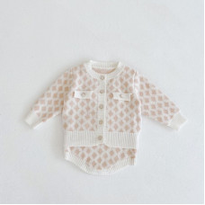 """Knitted set with a """"rhombus"""" print"""
