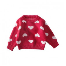 """Sweater with a """"heart"""" print"""
